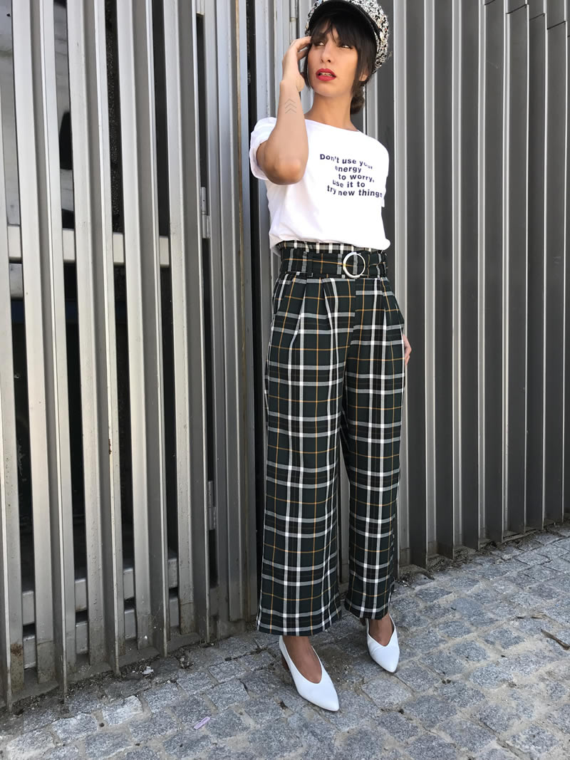 pantalones de cuadros, Street style